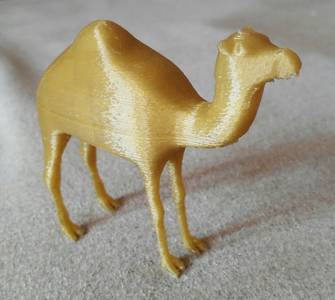 Photo - 3DC printing solid camel figure - 3Dcoat